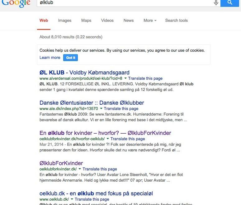 Google rankering