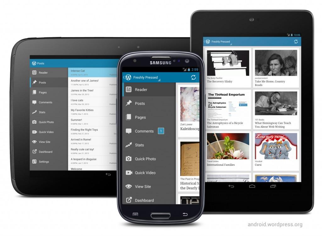 WordPress App til IOS og Android.